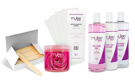 Mylee Wax, Spatulas and Strips Set, PreCare, AfterCare and Equipment Cleaner Set or Complete Waxing Kit