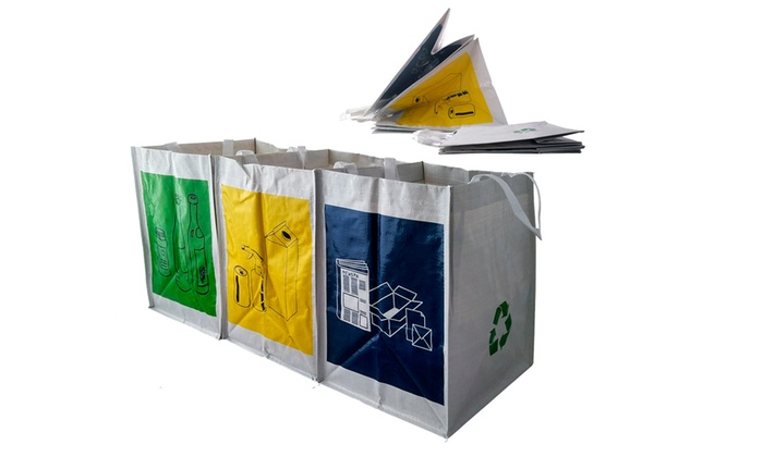 Pack Of 3 Or 6 Recycling Bags