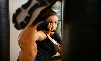 image for One Month of Unlimited Kickboxing and TRX <strong>Classes</strong> at Impact! Kickboxing <strong>Fitness</strong> (Up to 68% Off)