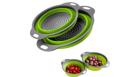 Collapsible Silicone Colander: Two-Pack ($17) or Four-Pack ($27)