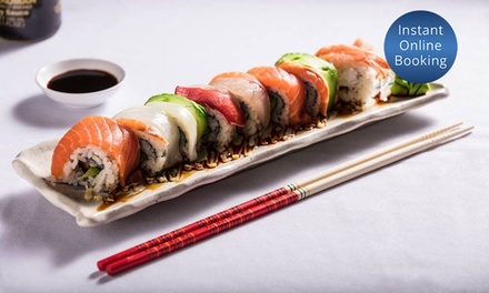 FiveCourse Japanese Meal with Wine or Beer for Two $45 or Six $129 at Ocean Blu Seafood Sushi Up to $319.2 Value