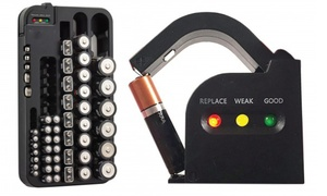 Battery Organizer with Integrated Power Tester