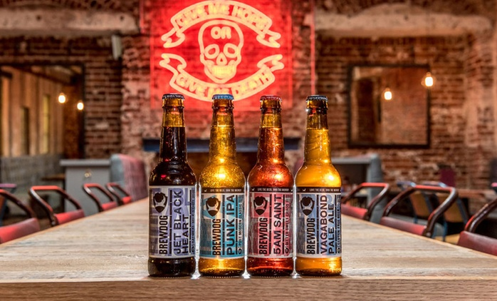 Beer School: Tutored Craft Beer tasting with Five Beers and a Cheese and Meat Platter for Two at BrewDog (50% Off)