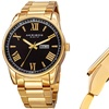 Akribos XXIV Men's Watch Set on a Stylish Sunray Date & Day Dial