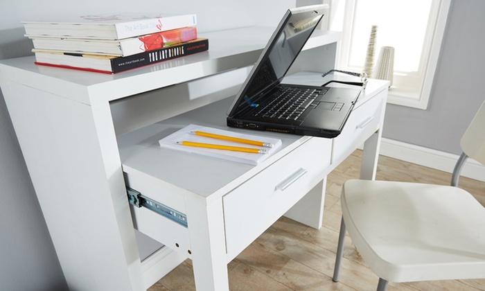 Regis Extending Console Desk Groupon Goods