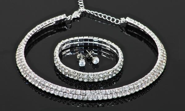 Parure 3 bijoux ornés de cristaux SWAROVSKI ELEMENTS, dès 14,90€ (47% de  réduction)
