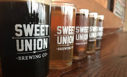 image for 2 or 4 Tasting Flights & Pint Glasses with 1 or 2 Growler Glasses at Sweet Union Brewing Company (Up to 41% Off)