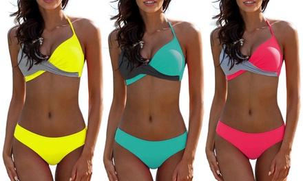 1 ou 2 ensembles de bikini croisé effet push-up Muriel