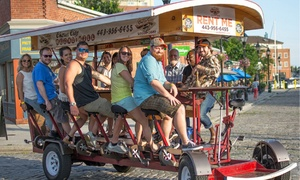 Charm City Pedal Mill: $199 for a Pedal-powered Bar Tour for Up to 15 from Charm City Pedal Mill ($400 Value)