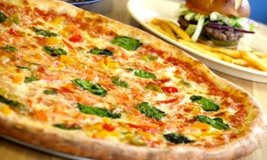 Boardwalk Pizza: Pizzeria and American Food at Boardwalk Pizza (40% Off). Two Options Available.