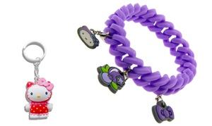Bracelet + Porte-clés Hello Kitty