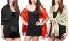 "Gilbin Luxurious Paisley Silk Blend Pashmina Shawl Wrap (28""x70"")"