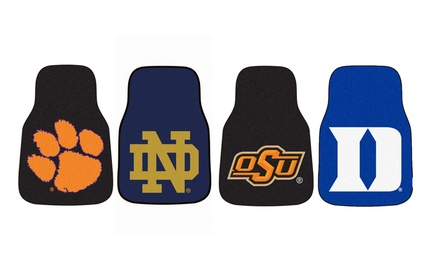 "Fanmats NCAA 27""x18"" Carpeted Front Car Mat Set (2-Piece)"