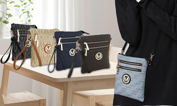 2271e22536c3 MKF Collection Charley Milan M Signature Cross-Body Bag by Mia Farrow