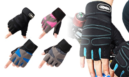 Half-Finger Breathable Sports Gloves in Choice of Colour: One ($12) or Two ($18) Pairs