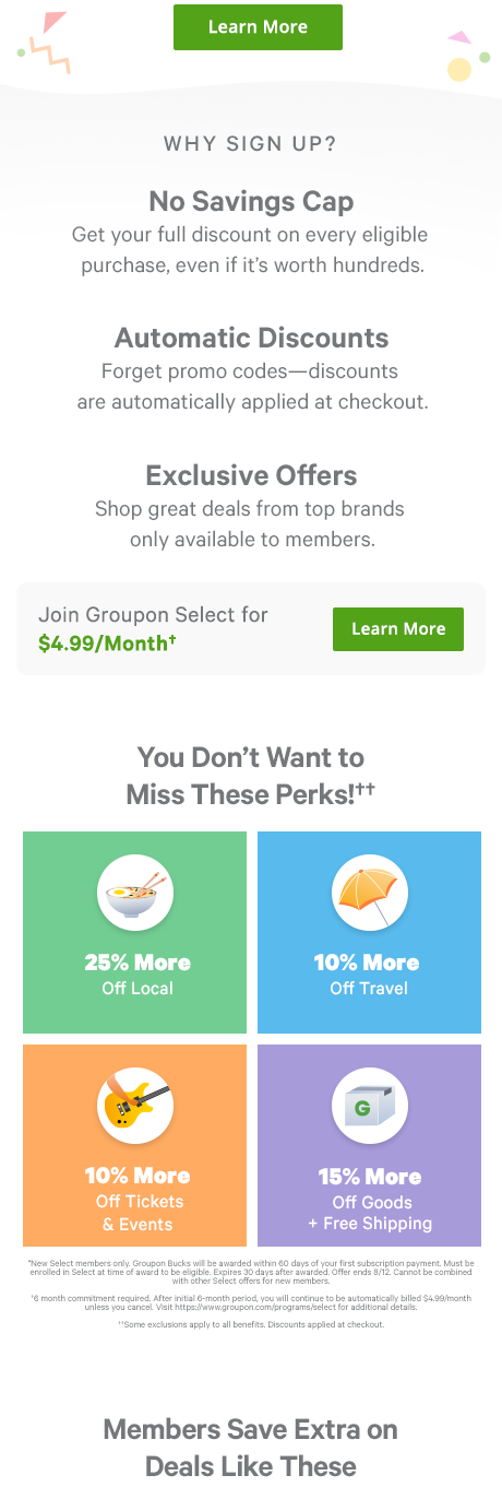 Join Groupon Select