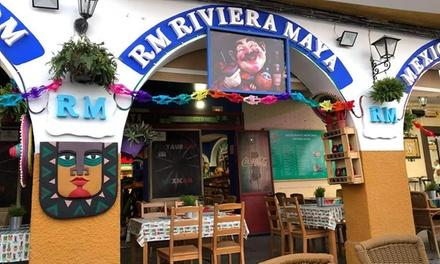 Menú mexicano para 2 o 4 personas con entrante, principal y bebida en la Riviera Maya (hasta 45% de descuento)