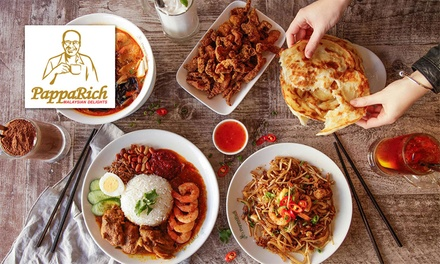 $40, $80 or $100 to Spend on Malaysian Food and Drinks at PappaRich