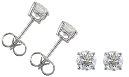 0.50 CTW Diamond Earrings in 14K White Gold