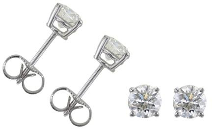 0.50 CTW Diamond Earrings in 14K White Gold