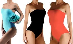 (Mode)  Maillot de bain bustier minceur -81% réduction