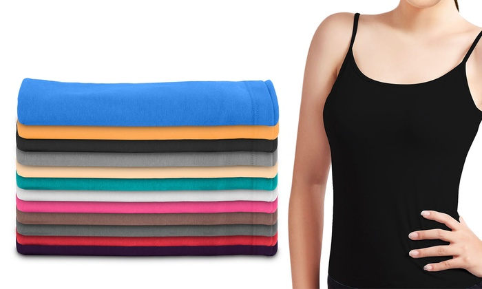 12-Pack of Women's Camisole Tank Tops for £19.99
