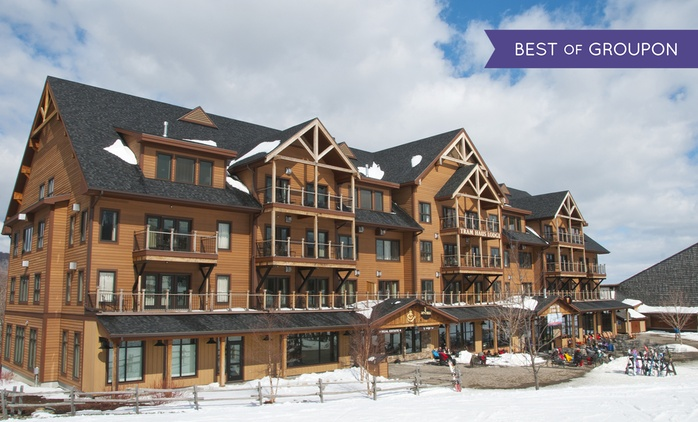 1-Night Stay with Optional Waterpark and Ski Passes for Two, Four or Six at Tram Haus Lodge at Jay Peak (Up to 59% Off)