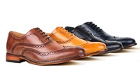 Signature Men's Wing Tip Lace-Up Dress Shoes