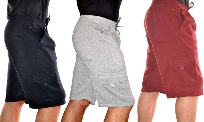 Men's Fleece Cargo Shorts