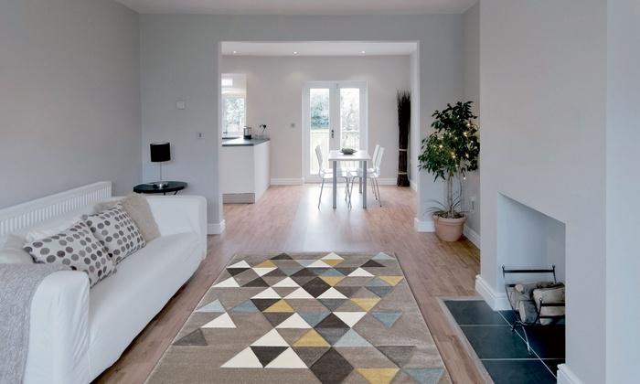 tapis collection ella scandinave groupon. Black Bedroom Furniture Sets. Home Design Ideas
