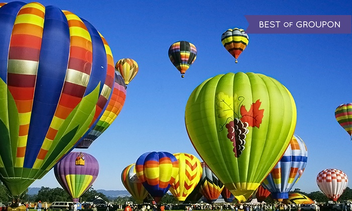 Wine Country Balloons - Santa Rosa: $186 for a Hot Air Balloon Flight for One with Champagne Toast from Wine Country Balloons ($235 Value)