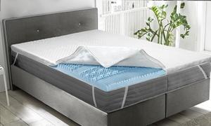Surmatelas Fresh memory 7 zones de confort 4cm houssé