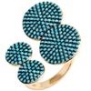 Sevil Turquoise Ring in 18k Gold Plating