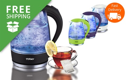 Free Shipping: $29.95 for a Todo Cordless LED Glass Kettle in Choice of Colour Don't Pay $149.95
