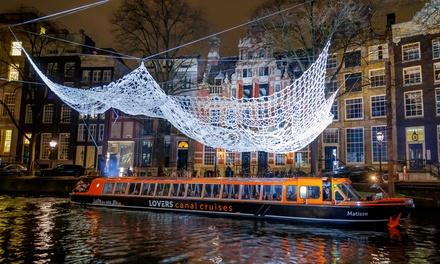 Rondvaart tijdens het Amsterdam Light Festival met Rederij Lovers