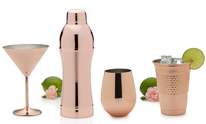 Nice Groupon Goods: Towle Living Copper Plated Barware ...