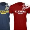 Men's College Football Helmet T-Shirt