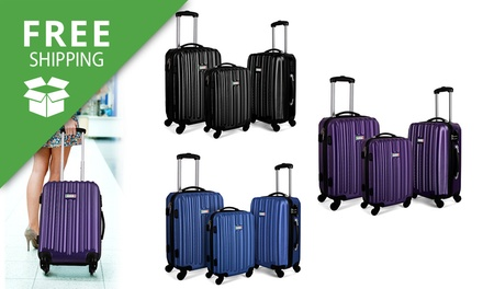 Free Shipping: $139.95 for a ThreePiece Milano Hard Case Luggage Set with TSACertified Locks Don't Pay $499