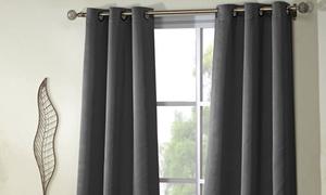 Triple-Layered Room-Darkening Grommet Pair Panel