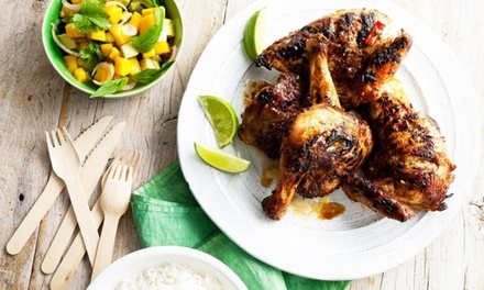 ThreeCourse Caribbean Meal with a Drink for Up to Four at Jerkkies