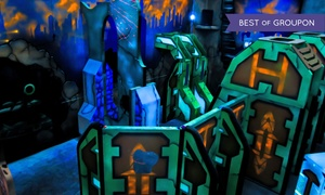 Pins N Pockets Entertainment: Two or Four Rounds of Laser Tag with Arcade Credit at Pins N Pockets Entertainment (54% Off)