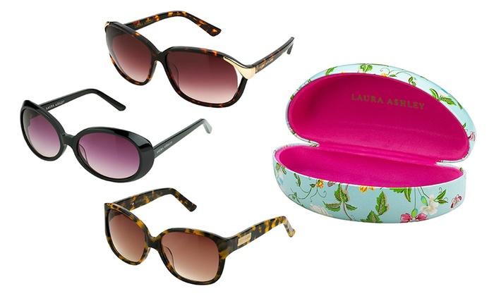 Laura Ashley Women's Cat-Eye or Round Sunglasses