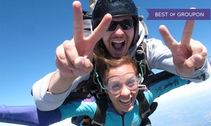 Skydive City: Single Tandem Skydive for One or Two or Premium Champagne Package for One or Two at Skydive City (Up to 44% Off)