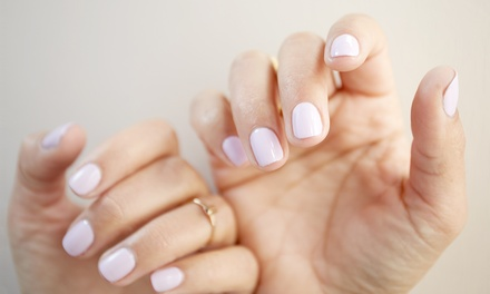 Spa Pedicure or Gel-Overlay Manicure at La Bella Nails (Up to 42% Off)
