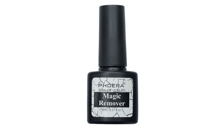 One, Two or Three 8ml Bottles of Phoera Magic SoakOff Gel Polish Remover