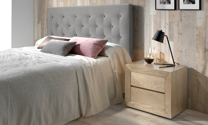 gepolsterte r ckwand f r das bett groupon goods. Black Bedroom Furniture Sets. Home Design Ideas