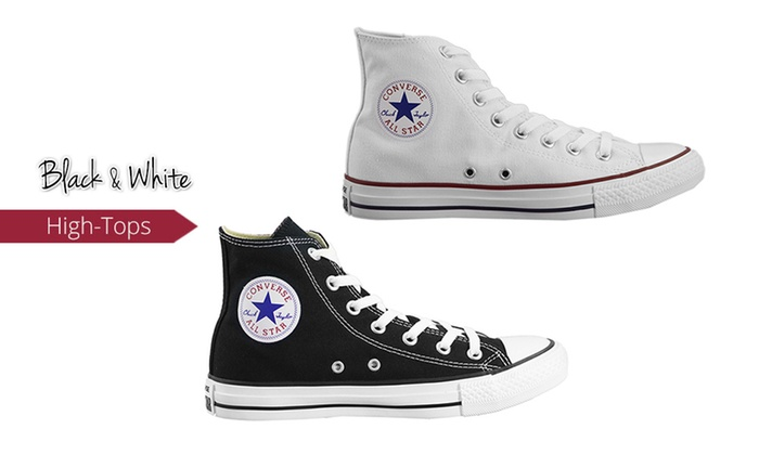 Black or White Converse All Star High Tops | Groupon Goods