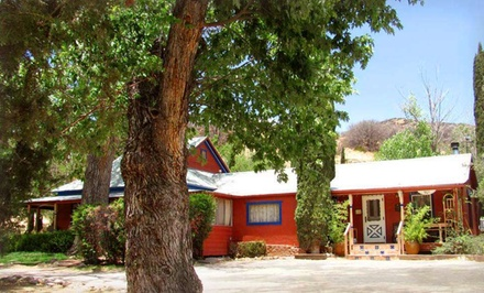 groupon daily deal - 1- or 2-Night Stay for Two at The Gardens at Mile High Ranch in Bisbee, AZ. Combine Up to 10 Nights.