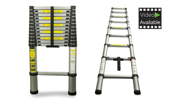 Telescopic Ladder: 2.6m (£59.99), 3.2m (£69.98) or 3.8m (£79.99) With Free Delivery (Up to 61% Off)