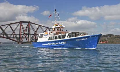 image for Boat Trip on Firth of Forth with Complementary Cream Tea for Two with Forth Boat Tours (50% Off)